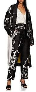 Haider Ackermann Women's Floral Jacquard Oversized Coat - Black