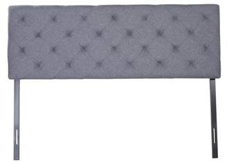 CO-Z Upholstered Headboard Queen Size w/ Steel Leg Fabric Diamond Pattern