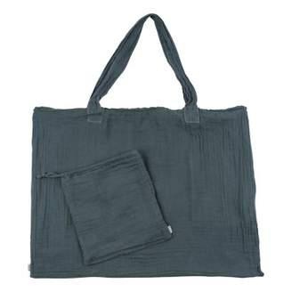 Numero 74 Cotton shopping bag and envelope - Blue Gray