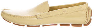 pradaPrada Square-Toe Leather Loafers