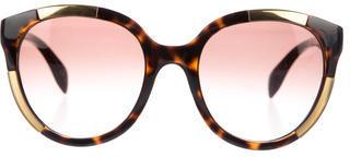 Alexander McQueenAlexander McQueen Oversize Tortoise Sunglasses