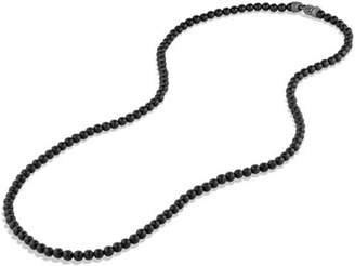David Yurman Spiritual Bead Necklace with Black Onyx