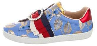 Gucci New Ace Bow Low-Top Sneakers