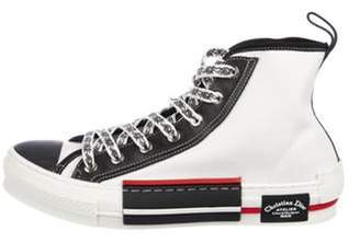 Christian Dior Canvas High-Top Sneakers w/ Tags black Canvas High-Top Sneakers w/ Tags