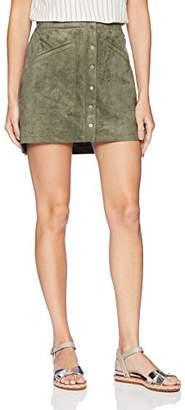 BCBGMAXAZRIA Women's Faux-Suede Miniskirt