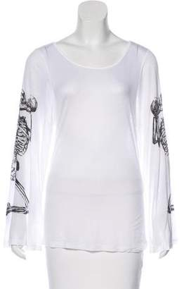 Thomas Wylde Printed Long Sleeve Top