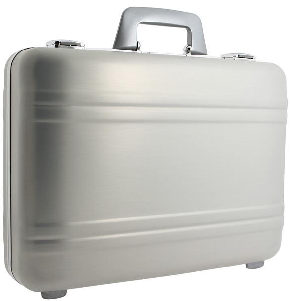Zero Halliburton Elite - 4 Elite Attache (Silver) - Bags and Luggage