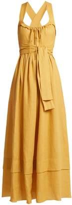 THREE GRACES LONDON Joan tie-waist linen dress