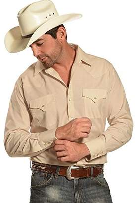 ELY CATTLEMAN Men's Long Sleeve Solid Western Shirt - 208879-01