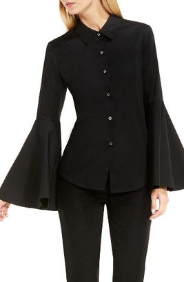 Women's Vince Camuto Bell Sleeve Shirt $89 thestylecure.com