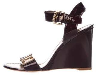 Louis Vuitton Patent Leather Sandal Wedges