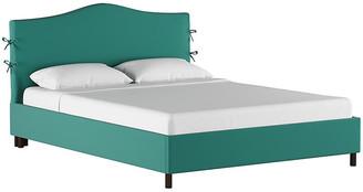 One Kings Lane Eloise Slipcover Platform Bed - Teal