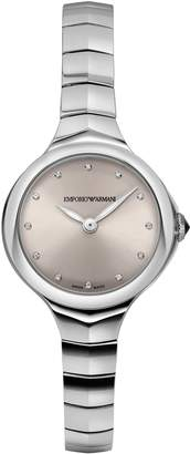 Emporio Armani Swiss Made Women's 'Dress' Swiss Quartz Stainless Steel Casual Watch, Color:-Toned (Model: ARS8013)