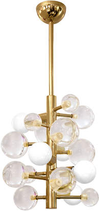 "Jonathan Adler Antique Brass Chandelier ""Globo"""
