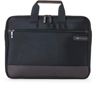 Samsonite Black & Brown Kombi Laptop Slim Briefcase