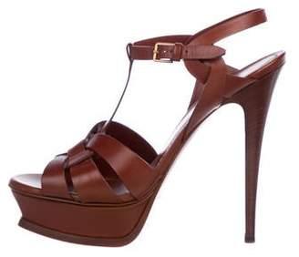 d98c5a2cd29 Yves Saint Laurent Tribute Sandals - ShopStyle