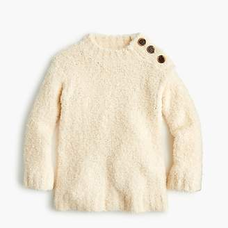 J.Crew Girls' button-shoulder tunic sweater in supercozy yarn