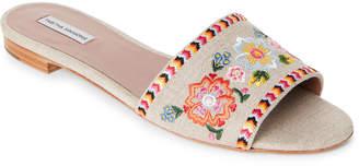 Tabitha Simmons Sprinkles Festival Embroidered Slide Sandals
