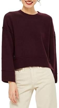 Topshop Mo Seam Detail Popper Sweater