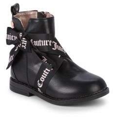 Juicy Couture Kid's Logo Ribbon Tie Booties