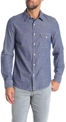 Save Khaki Chambray Classic Fit Shirt