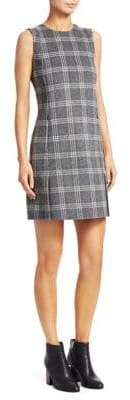 Theory Windowpane Check Shift Dress