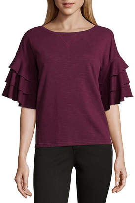 A.N.A Short Sleeve Round Neck Blouse