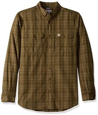 Carhartt Men's Big Tall Fort Plaid Long Sleeve Shirt