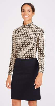 J.Mclaughlin Nora Turtleneck in Mini London Houndstooth