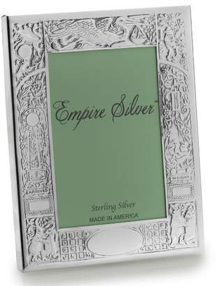 Empire Silver Birth Record Pewter Picture Frame