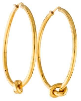 Celine Knot Large Hoop Earrings