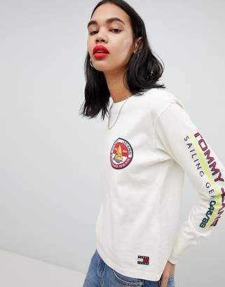 Tommy Jeans 90s Capsule 5.0 Long Sleeve T-Shirt With Logo Sleeve