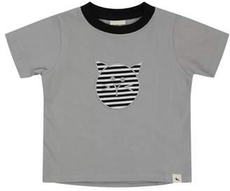 Turtledove London Cat Applique Organic Cotton T-Shirt