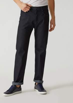 Emporio Armani J31 Regular-Fit Rinsed Comfort Denim Jeans