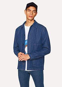 Paul Smith Men's Blue Rinse 'West Coast Denim' Chore Jacket