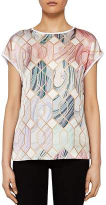 Ted Baker Relli Sea of Clouds Printed-Front Tee