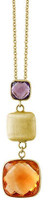 Effy 14K Yellow Gold Amethyst and Citrine Pendant Necklace