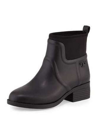 Tory Burch April Short Rain Boot, Black $195 thestylecure.com