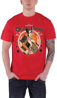 Five Finger Death Punch Bomber Girl new official mens Red T shirt