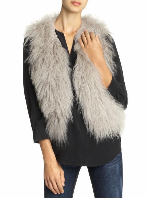 Sabine Mongolian Fur  Vest