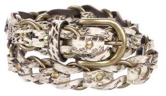 Isabel Marant Embossed Chain-Link Belt