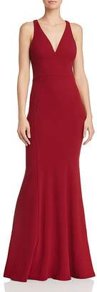 c348a5111eab Bariano Gem Racerback Crepe Gown
