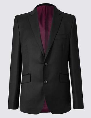 Marks and Spencer Black Tailored Fit Wool Jacket