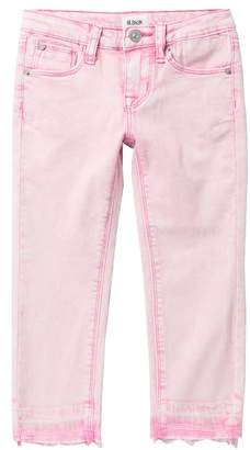 Hudson Jeans 23-Inch Chewed Hem Twill Ankle Skinny Jeans (Little Girls)