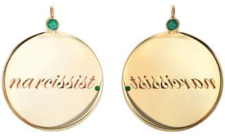 Dru Emerald Narcissist Medallion - Yellow Gold