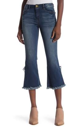 Democracy Luxe Touch High Rise Crop Flare Leg Jeans