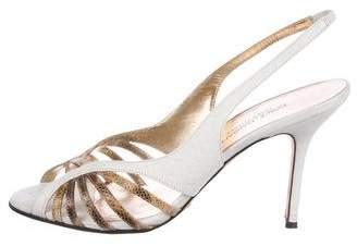 Dolce & Gabbana Karung-Trimmed Slingback Sandals