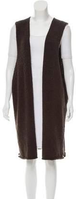 eskandar Merino Wool Longline Vest