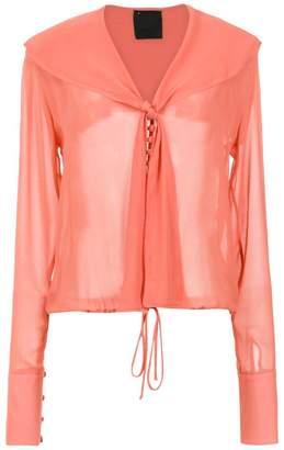 Andrea Bogosian sheer silk shirt