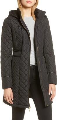 Via Spiga Water Resistant Quilted Hooded Walker Jacket